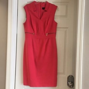 Worthington dress with zippers on sides.